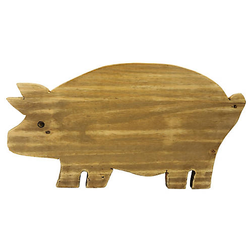 Carved Pig Charcuterie/Cutting Board
