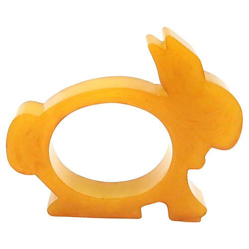 Mid-Century Bakelite Rabbit Napkin Ring