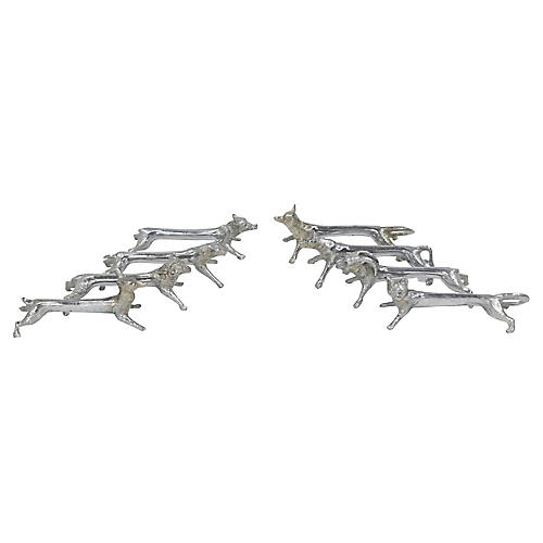 French Figural Animal Knife Rests, S/8