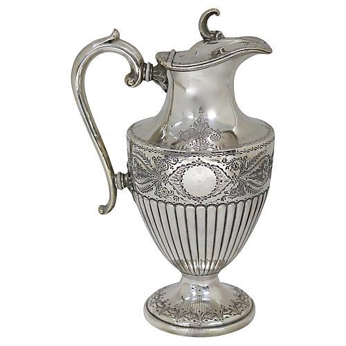 English Silver-Plate Wine Ewer