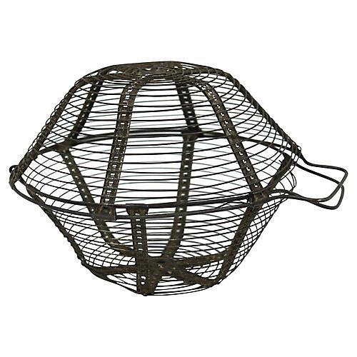French Metal Produce Washing Basket