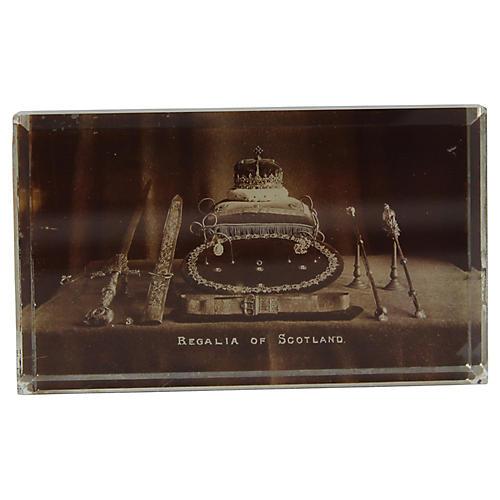 Antique Regalia Of Scotland Paperweight