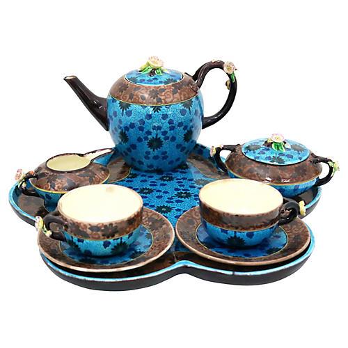French Jules Viellard Bordeaux Tea Set
