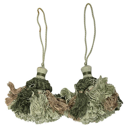 1940s French Cabinet Tassels, Pair