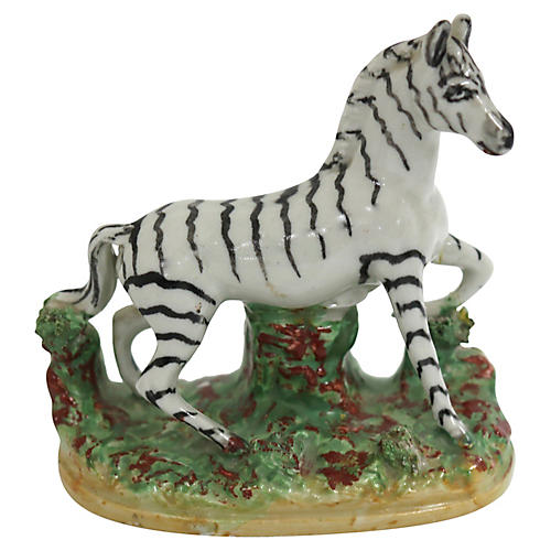 Antique English Staffordshire Zebra