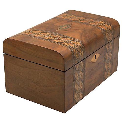 Antique English Art Deco Jewelry Box