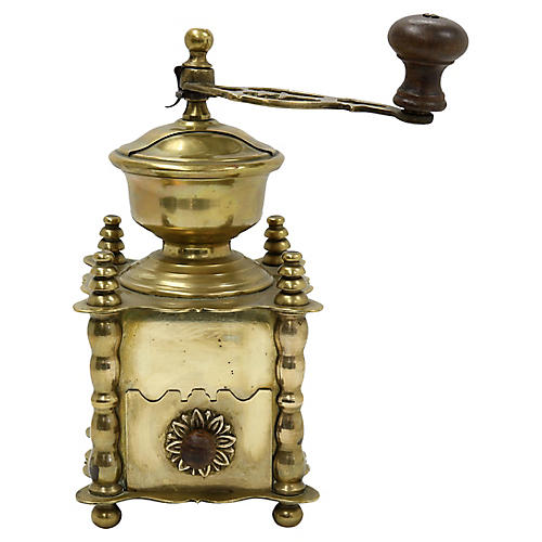 Antique Brass Coffee Grinder