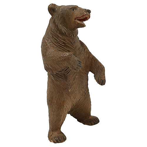 Antique Hand Carved Black Forest Bear