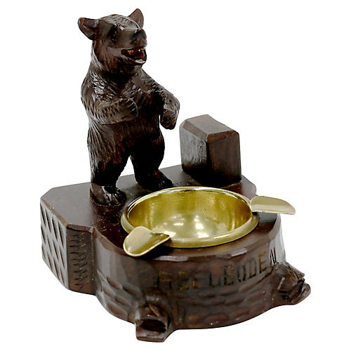 Antique Black Forest Bear Ashtray