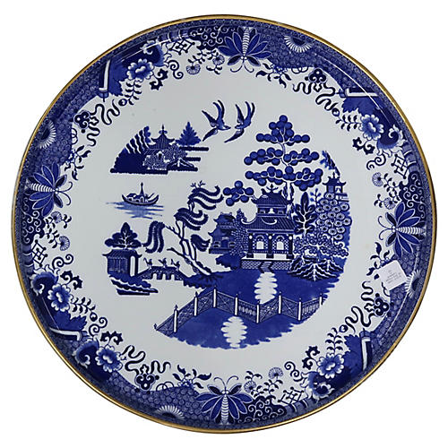 Oversized Copeland Spode Willow Tray