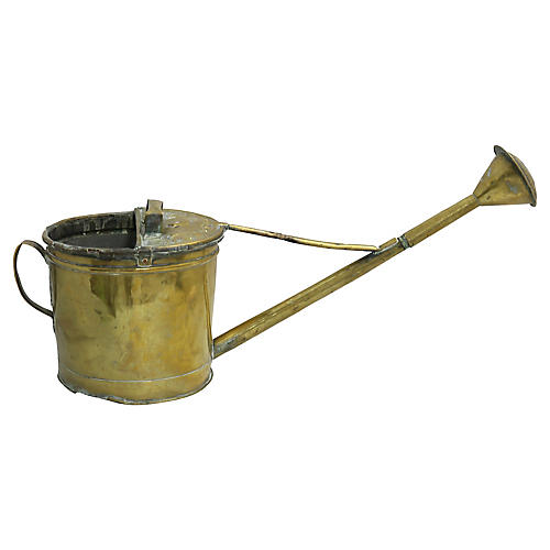 Antique French Cherub Watering Can