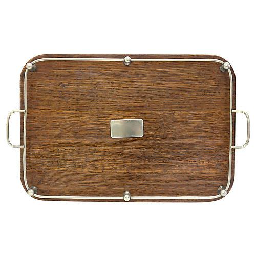 1920s Engish Oak Serving Tray