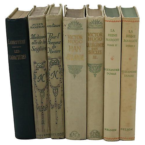 Antique French Decorative Books, S/7