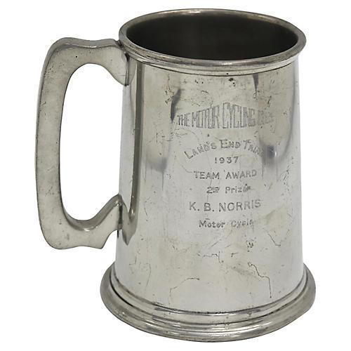 1937 Motorcycle Club Trophy Tankard