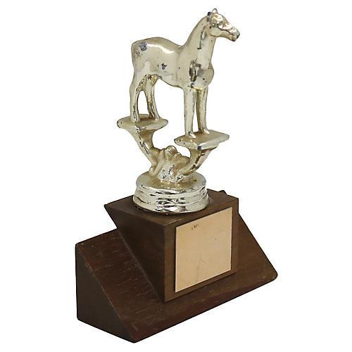 1970s Blank Horse Trophy