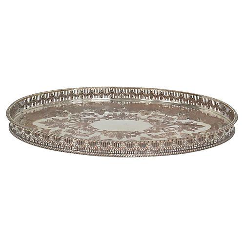 Sheffield Silver-Plate Gallery Tray