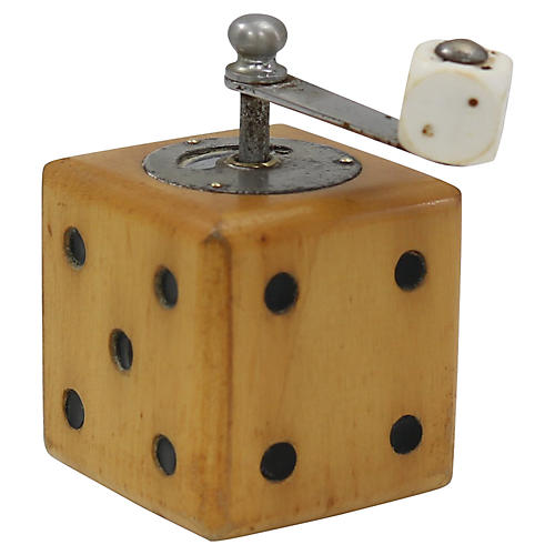 Mid-Century French Dice Pepper Grinder