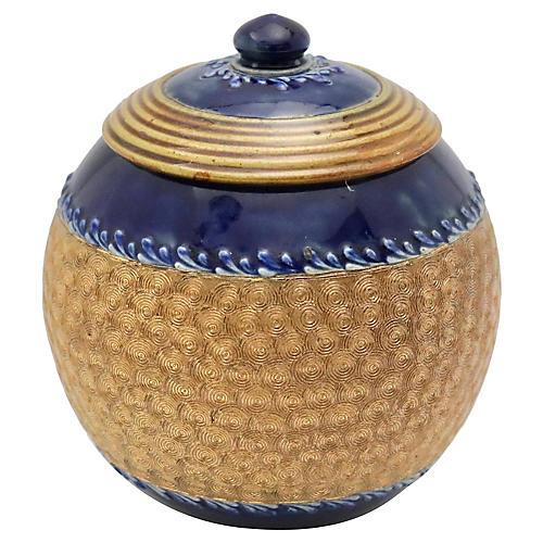 Antique Doulton Arts & Crafts Sugar Bowl
