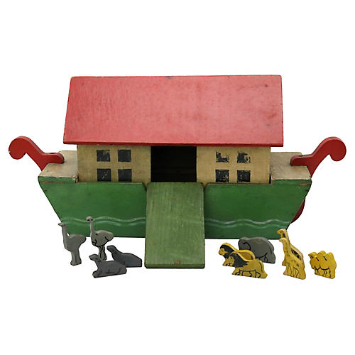 Noah's Ark w/ Animals, 11 Pcs
