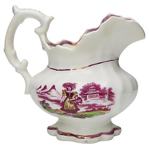 1840s English Lustre Cream Jug