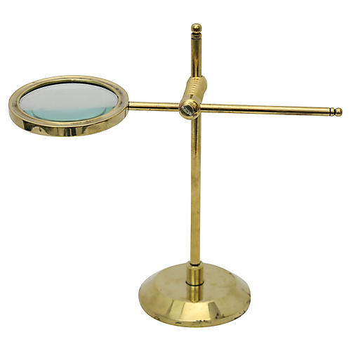 Antique Brass Tabletop Magnifying Glass