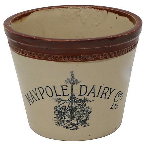 Antique English Dairy 6lb Butter Crock
