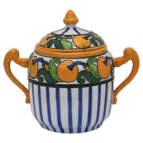 French Art Deco Quimper Sugar Pot