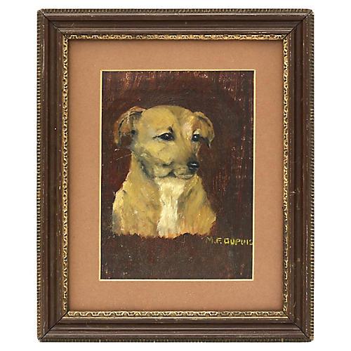 1945 Oil Portrait of Jill The Terrier