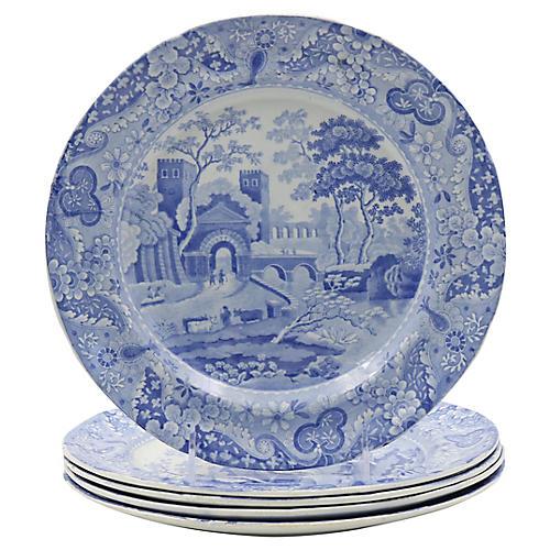 1820s Spode Italian Dinner Plates, S/5