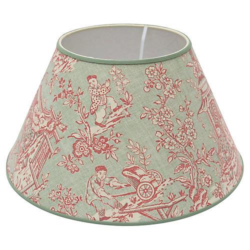 Custom Toile Linen Lampshade