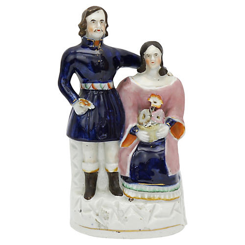 Staffordshire Queen Victoria & Albert