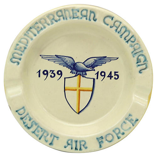 Italian Deruta WWII Air Force Ashtray