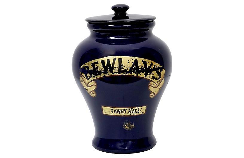 Antique English Doulton Tobacco Shop Jar