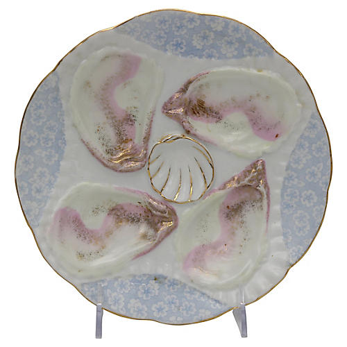 Antique Porcelain Oyster Plate