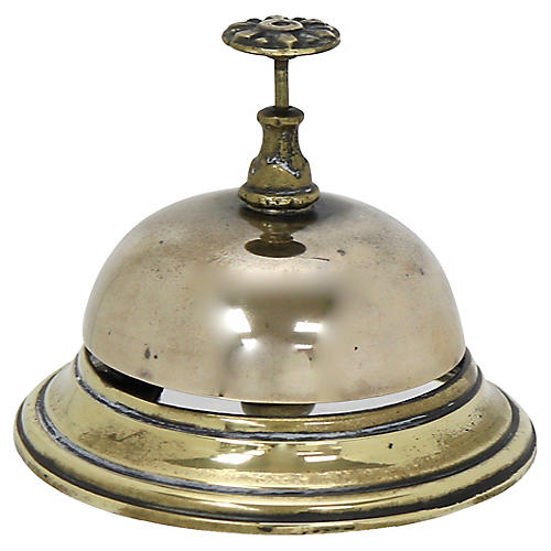 Antique English Brass Hotel Bell