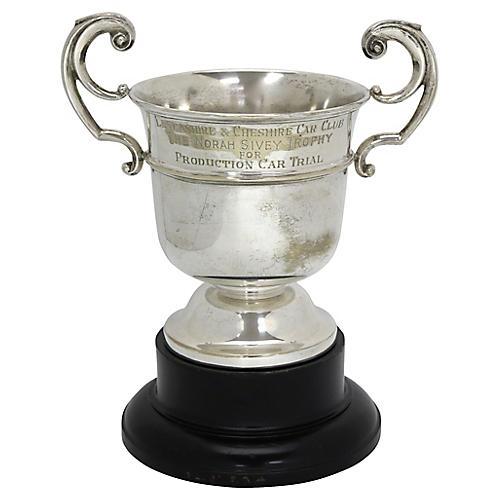 English Silver-Plate Car Club Trophy Cup