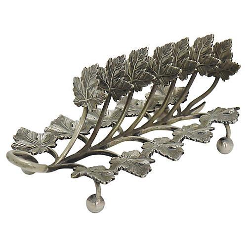 Antique Silver Leaf Toast/Letter Rack