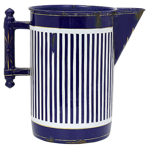 Large French Enamel Water Jug