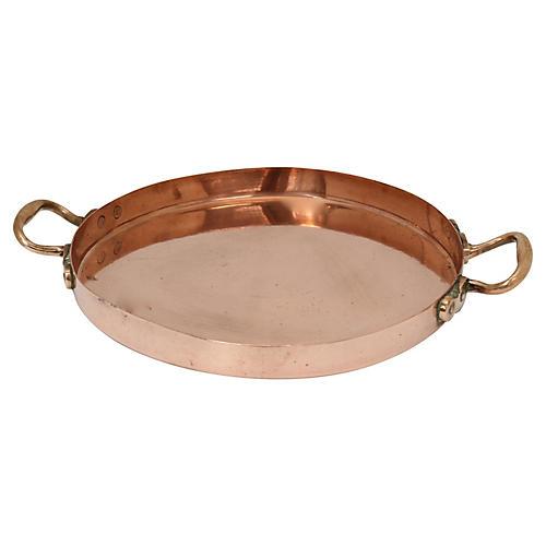 Antique English Copper Crepe Pan