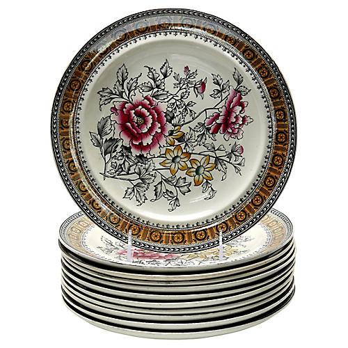 1880s Copeland Luster Edge Plates, S/11