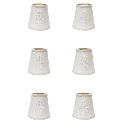 French Linen Chandelier Shades, S/6