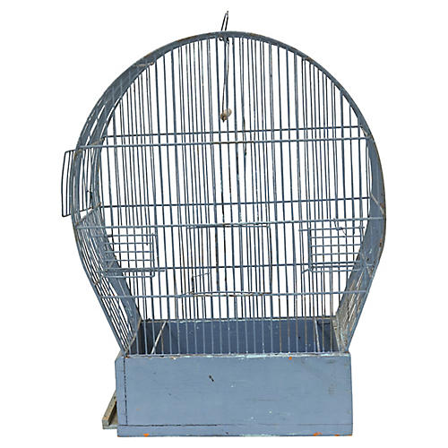 Large Mid-Century French Bird Cage