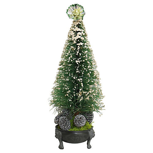 Midcentury Bottle Brush Christmas Tree