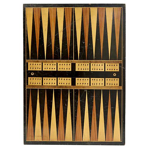 Antique Checker/Backgammon Board
