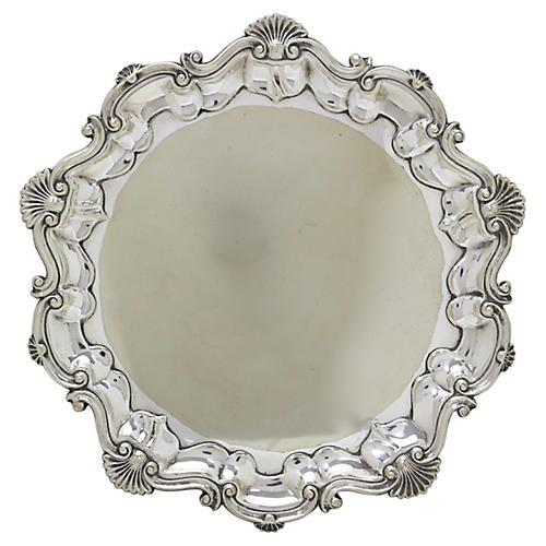 Antique English Silver-Plate Drink Tray