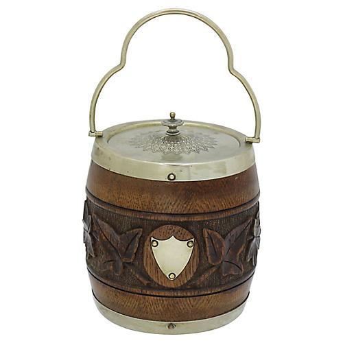 English Carved Ice Bucket