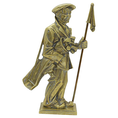English Brass Golfer Doorstop