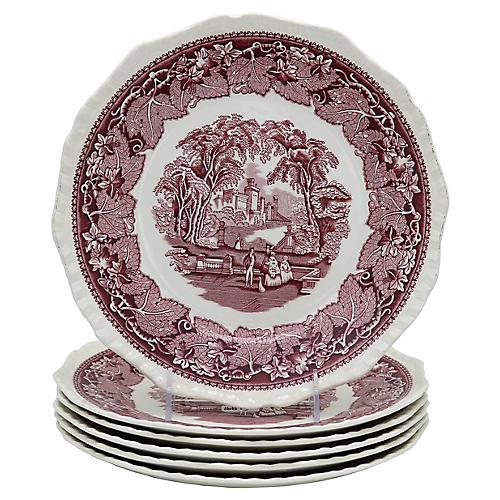 Mason's Vista Dinner Plates, S/6