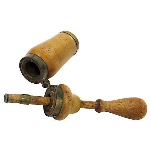 Antique Wine Bottle Cork Press