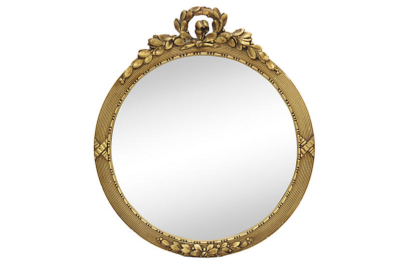 Antique French Gilded Convex Wall Mirror Art Mirrors Sale By Category Sale One Kings Lane